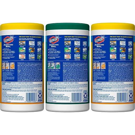 Clorox Disinfecting Wipes Value Pack, Bleach Free Cleaning Wipes - 225  Wipes (30208)