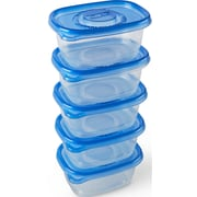 Glad Food Storage Containers, Soup and Salad Container, 24 Ounce, 5 Containers (60796)