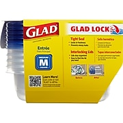 Glad Entrée Containers, 25 oz., 5/Pack (60795)