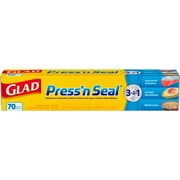 Glad® Press'n Seal Plastic Food Wrap, 70 Sq. Ft. Roll, 12 Boxes/Carton (70441)