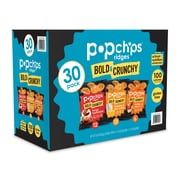 popchips Ridges Chips, Variety, .8 oz., 30/Carton (SMC94004)