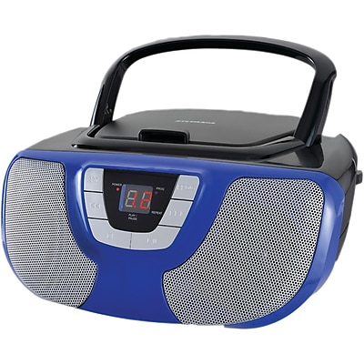 Sylvania Srcd1025-blue Portable Cd Radio Boom Box (blue)