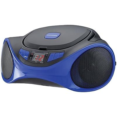 Sylvania Srcd1063bt-blue Bluetooth Portable Cd Radio Boom Box (blue)