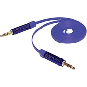 Isimple Ismj23bl Musicjax Flat 3.5mm To 3.5mm Blue Audio Cable, 3ft