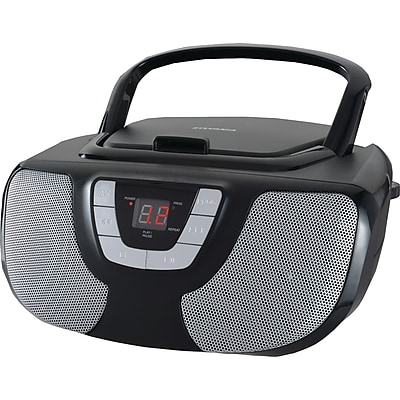 Sylvania Srcd1025-black Portable Cd Radio Boom Box (black)