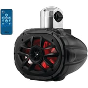 """Boss Audio MRWT69RGB 6"""" x 9"""" 600-Watt 4-Way Marine Wake Tower Speaker with RGB LEDs"""