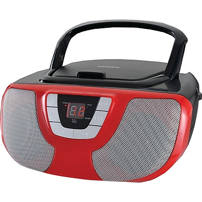 Sylvania Srcd1025-red Portable Cd Radio Boom Box (red)