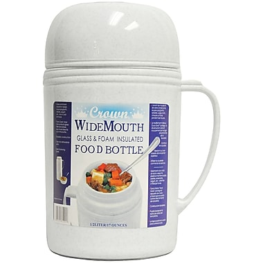 Royal Crown Raz-05 Wide-mouth Glass Vacuum Food Thermos (0.5 Liter)
