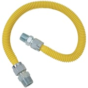 """Brasscraft Cssc14-60 Gas Range & Gas Furnace Flex-line (5/8"""" Od (3/4"""" Mip X 1/2"""" Mip) X 60"""")"""