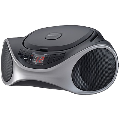 Sylvania Srcd1063bt-graphite Bluetooth Portable CD Radio Boom Box, Graphite