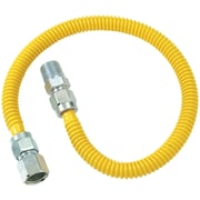 "Brasscraft Cssd54-48 Gas Dryer & Water Heater Flex-line (1/2""od X 48"" (1/2"" Fip X 1/2"" Mip)"