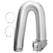 """Builder's Best 4"""" x 8ft UL Transition-Duct Single-Elbow Kit (111718)"""
