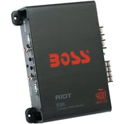 BOSS Audio Systems Riot Series Full-Range Class AB Amp 4 Channels, 400 Watts max (BOSR1004)