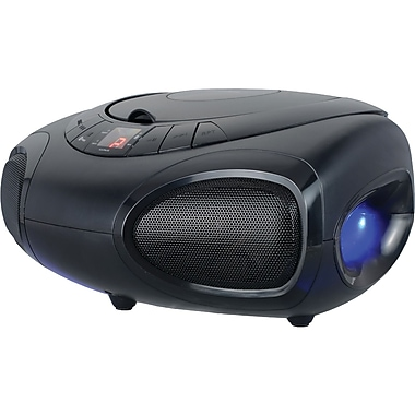 Sylvania Srcd1368bt Bluetooth Portable Cd Boom Box With Led Light