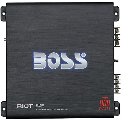 BOSS Audio Systems Riot Series Full-Range Class AB Amp 2 Channels, 800 Watts max (BOSR4002)