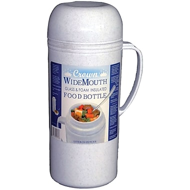 Royal Crown Raz10 Wide-mouth Glass Vacuum Food Thermos (1.0 Liter)
