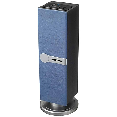 Sylvania Sp269-blue Bluetooth Tabletop Tower Speaker (blue)