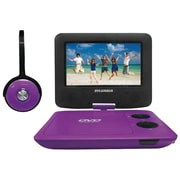 "Sylvania Sdvd7043-purpblk 7"" Swivel-screen Portable Dvd & Media Player With Matching Headphones (purple & Black)"