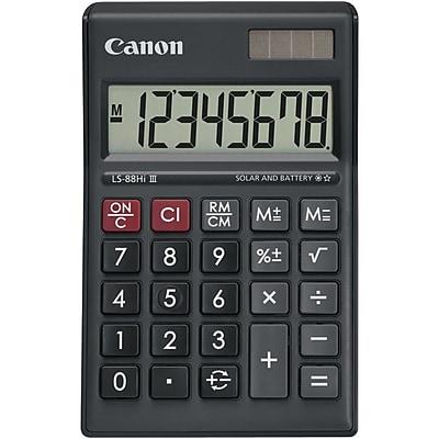 Canon LS-88HI III Green Display Basic Calculator - Battery/Solar Powered - 1