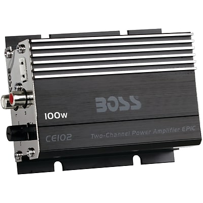 Boss Audio Systems Chaos Epic Compact All-Terrain Class AB Amp 2 Channels, 100 Watts (BOSCE102) 24329589