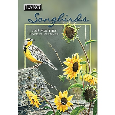 LANG Songbirds 2018 Monthly Pocket Planner (18991003167)