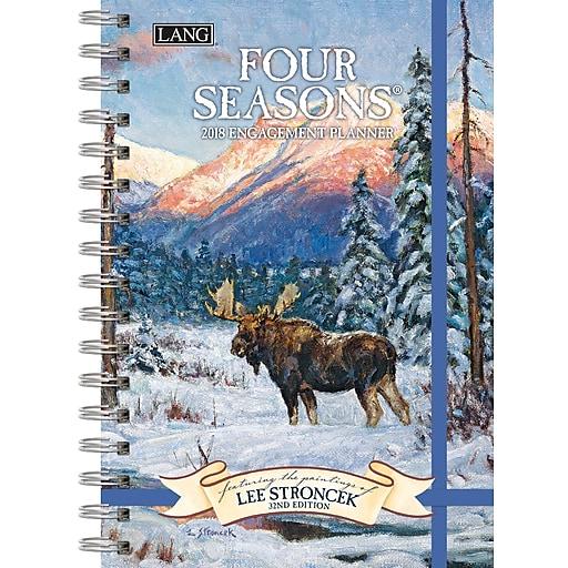LANG Four Seasons® 2018 Engagement Planner, Spiral (18991011084)