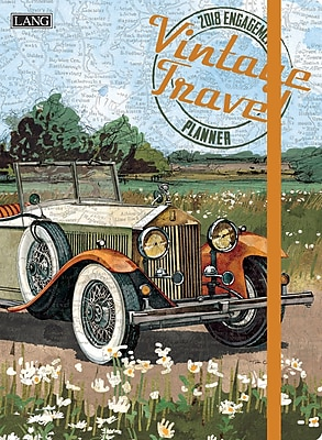 LANG Vintage Travel 2018 Classic Engagement Planner (18991017018)