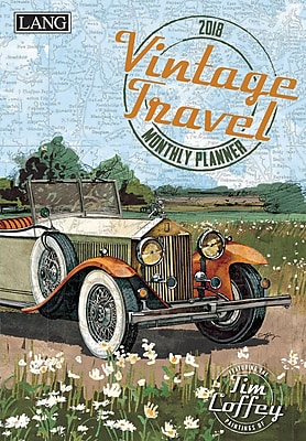 LANG Vintage Travel 2018 Monthly Planner (18991012105)