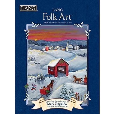 LANG Lang Folk Art 2018 Monthly Pocket Planner (18991003162)