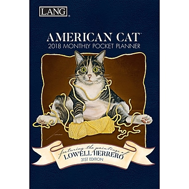 LANG American Cat 2018 Monthly Pocket Planner (18991003156)
