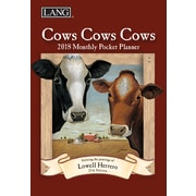 LANG Cows Cows Cows 2018 Monthly Pocket Planner (18991003168)