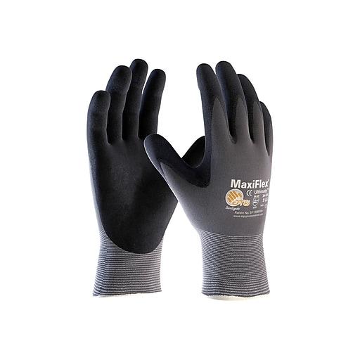 MaxiFlex Ultimate Nitrile Gloves, Gray/Black, Dozen (34-874/M)