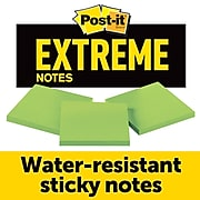 """Post-it® Extreme Notes, 3"""" x 3"""", Green, 3 Pads/Pack (EXTRM33-3TRYGN)"""