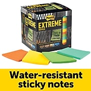 """Post-it® Extreme Notes, 3"""" x 3"""", Orange, Green, Mint, Yellow, 12 Pads/Pack (EXTRM33-12TRYX)"""
