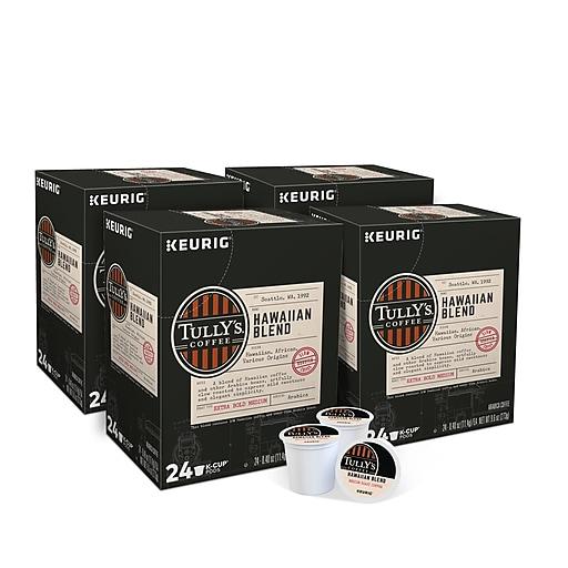 Tully's Coffee Hawaiian Blend Coffee, Keurig® K-Cup® Pods, Medium Roast, 96/Carton (66064)