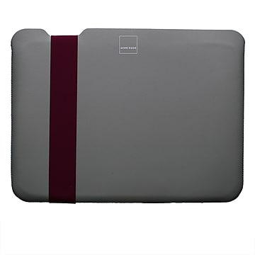 "Acme Made Large Skinny Sleeve Neoprene Laptop Sleeve for 15.4"" Laptops, Gray/Fuchsia (AM10751)"
