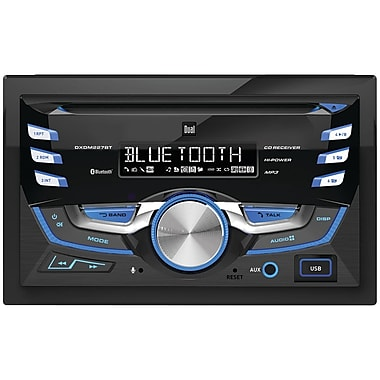 Dual Dxdm227bt Double-din In-dash Cd Am/fm Receiver With Bluetooth