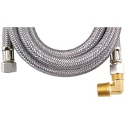 Certified Appliance Dw60ssbl Braided Stainless Steel Dishwasher Connector With Elbow (5ft)