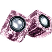 Dreamgear Dgun-6828 Ice Crystal Clear Compact Speakers (pink)