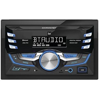 Dual Dxrm57bt Double-din In-dash Mechless Am/fm Receiver With Bluetooth