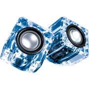 Dreamgear Dgun-6827 Ice Crystal Clear Compact Speakers (blue)