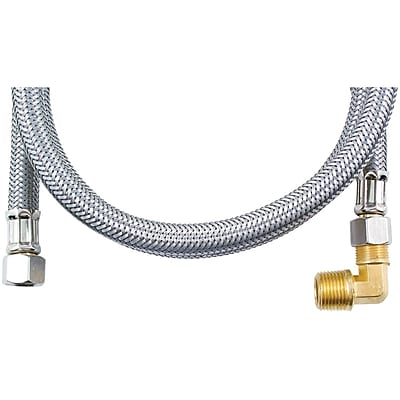 Certified Appliance Dw48ssbl Braided Stainless Steel Dishwasher Connector With Elbow (4ft)