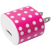Iessentials Ie-ac1usb-ppd 1-amp Usb Wall Charger (pink Polka Dot)
