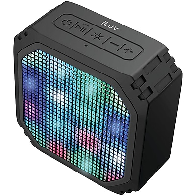 Iluv Ampartybk Aud Mini(tm) Party Portable Bluetooth Speaker With Led Light Show