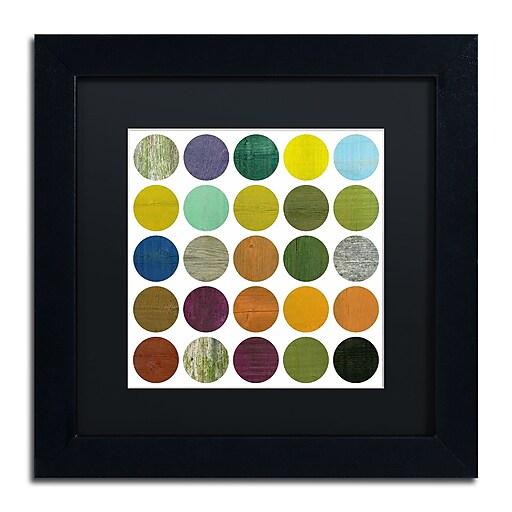 "Trademark Fine Art Michelle Calkins 'Rustic Rounds 6.0' 11"" x 11"" Matted Framed (190836102020)"