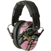 Walkers Game Ear Gwp-fpm1-pkmo Pro Low-profile Folding Muff (pink/mossy Oak Camo)