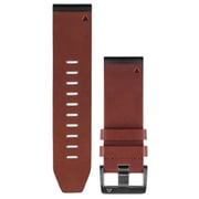 Garmin 010-12517-04 Fenix 5s Quickfit Leather Watch Band (26mm; Brown)