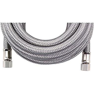 Certified Appliance Im300ss Braided Stainless Steel Ice Maker Connector (25ft)