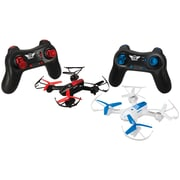 Sky Rider Quadcopter Battle Drones, 2/Pack, Black (GPXDR1717)