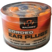 Walker's Gwp-cordplgbkt Corded Foam Ear Plugs, 50 Pk